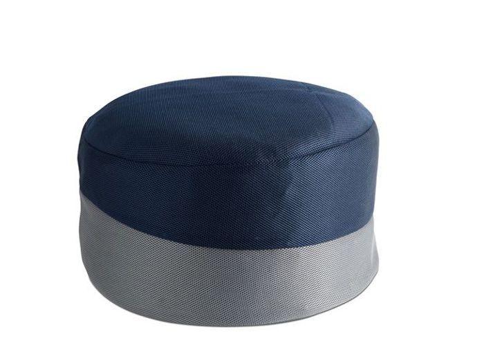 Un pouf bicolore