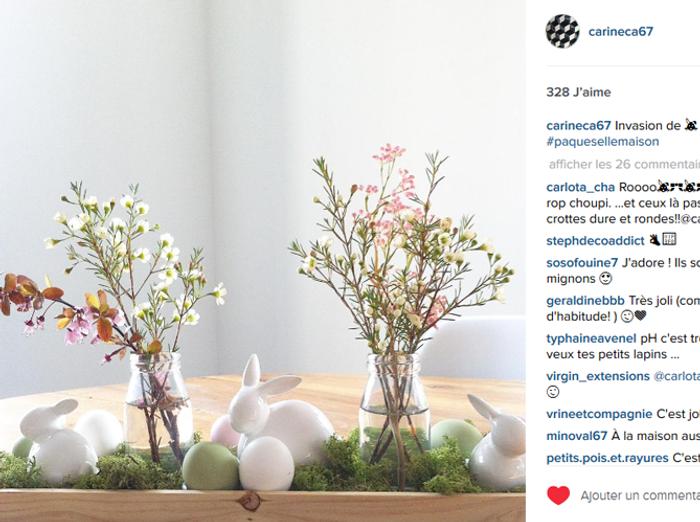 Photo Decoration Paques Instagram Centre De Table