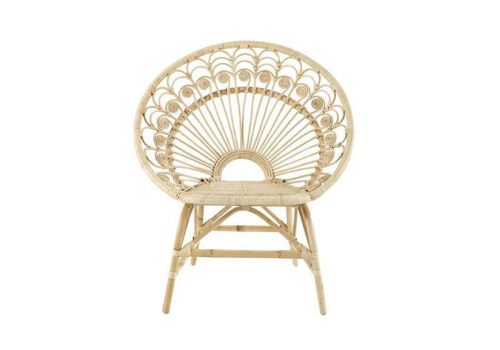 Un joli fauteuil en rotin pour une déco bohème