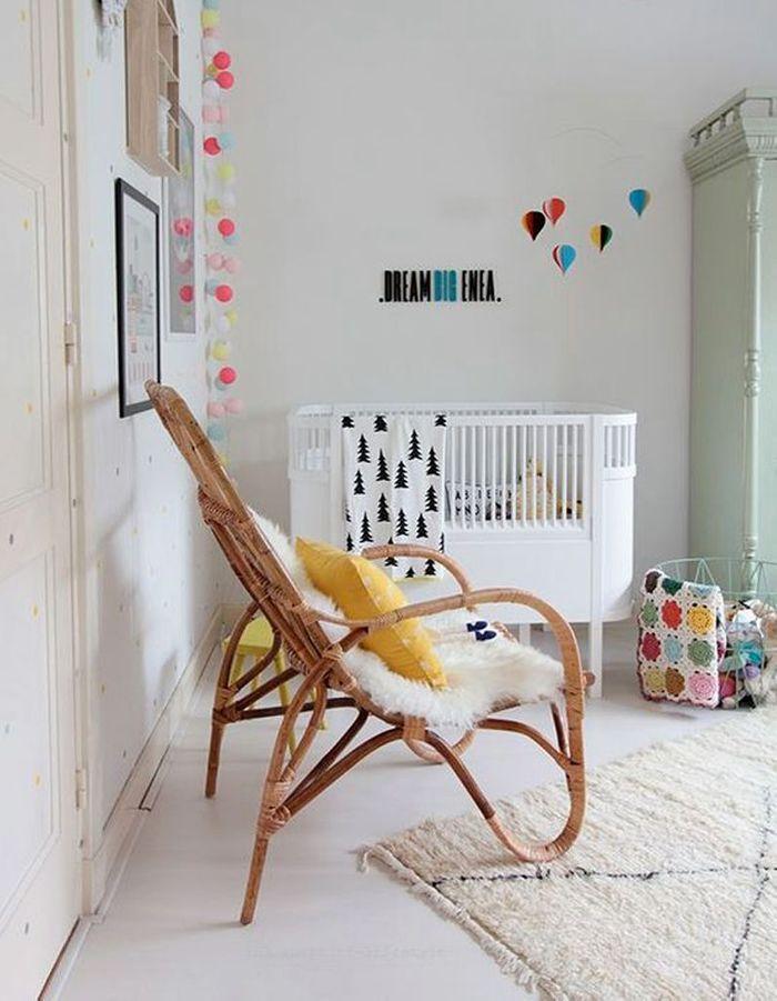 Une chambre de bébé très actuelle