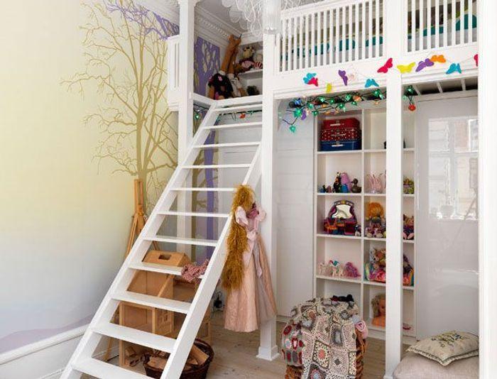 10 chambres d 39 enfant sobres et pur es elle d coration - Chambre fille mezzanine ...
