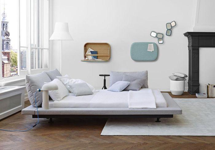 Une chambre blanche au mobilier design la chambre for Mobilier chambre design