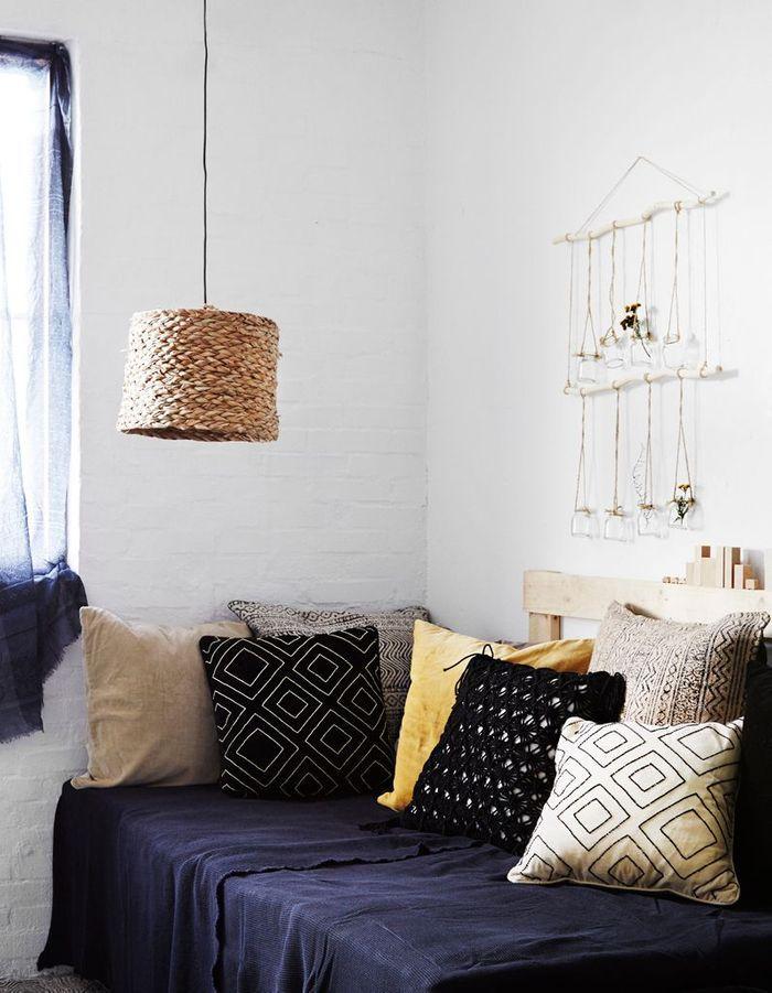 Succombez la chambre bleue elle d coration - Linum linge de maison ...