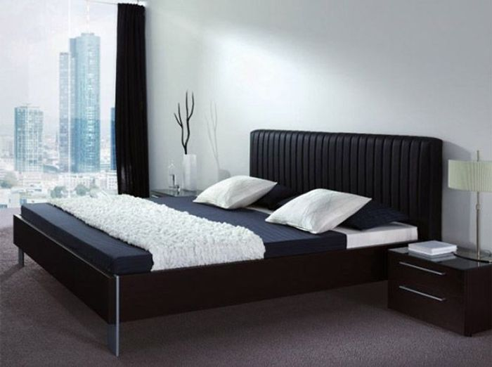 deco chambre adulte lit noir. Black Bedroom Furniture Sets. Home Design Ideas