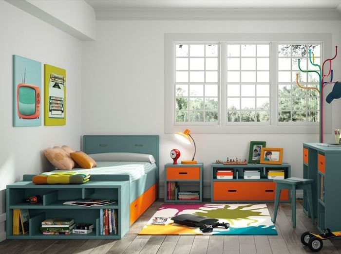 Chambres de gar on 40 super id es d co elle d coration for Stickers pour chambre garcon