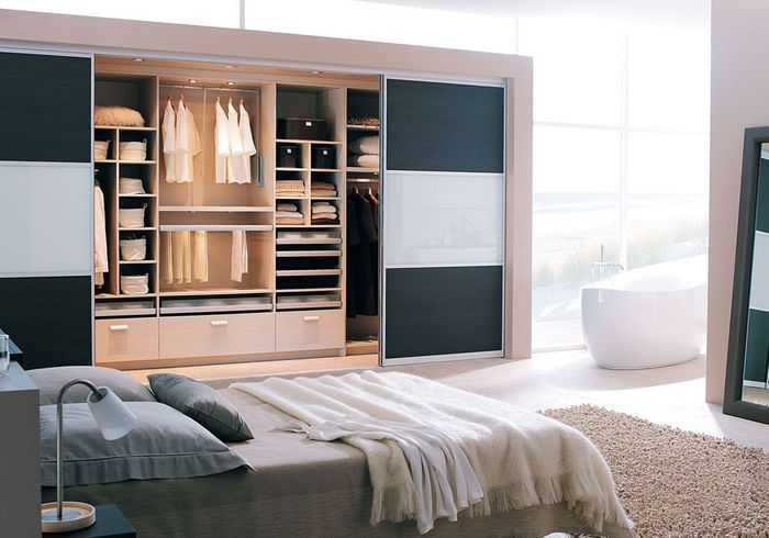 deco chambre parentale avec salle bain dressing. Black Bedroom Furniture Sets. Home Design Ideas