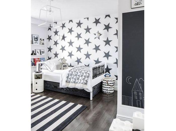 Les plus jolies chambres d 39 enfants de la rentr e elle for Chambre noire et blanc