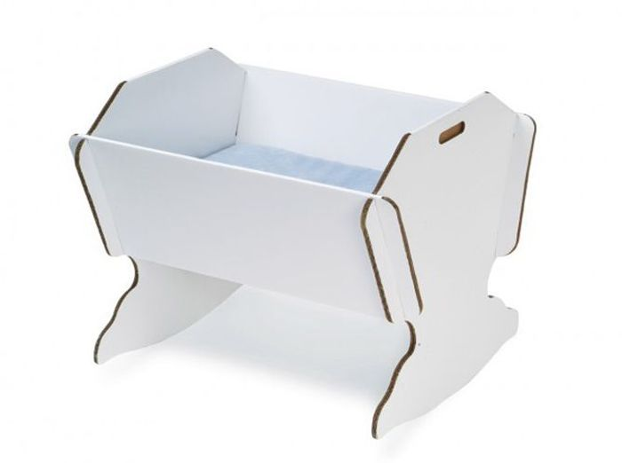 Berceau en carton pliable