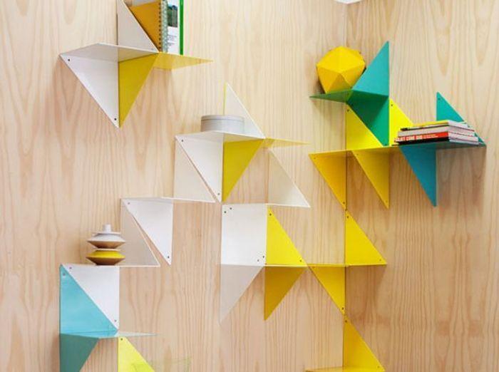 etagres modulaires esprit origami - Etagere Enfant Deco