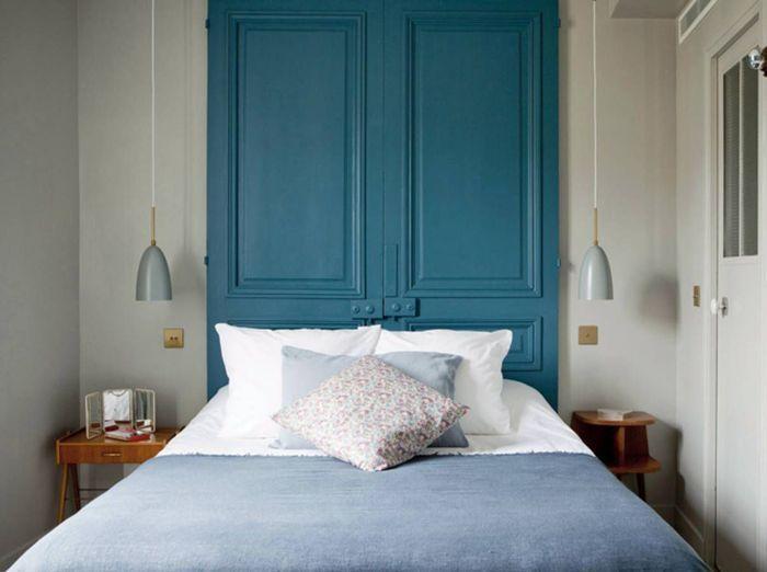 t te de lit 25 id es pour une t te de lit originale elle d coration. Black Bedroom Furniture Sets. Home Design Ideas