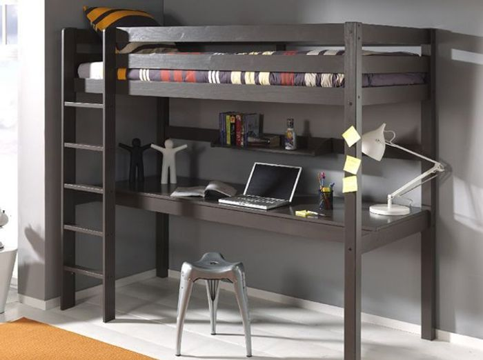 lit mezzanine double. Black Bedroom Furniture Sets. Home Design Ideas