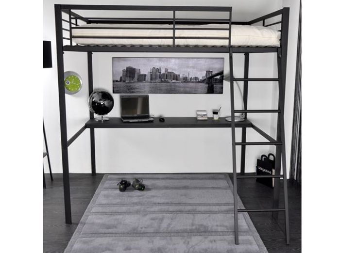 lit mezzanine metal 1 place my blog. Black Bedroom Furniture Sets. Home Design Ideas