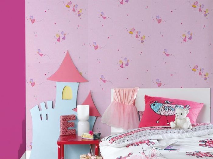 papier peint enfant 15 id es fun pour sa chambre elle d coration. Black Bedroom Furniture Sets. Home Design Ideas