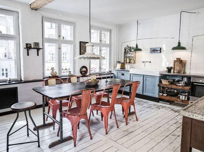 25 astuces pour apporter une touche de couleur votre cuisine elle d coration. Black Bedroom Furniture Sets. Home Design Ideas