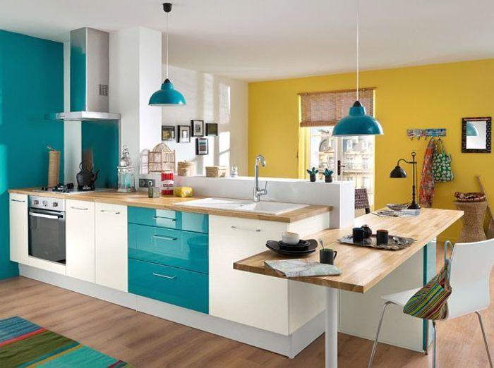 50 cuisines ultra colorées - Elle Décoration