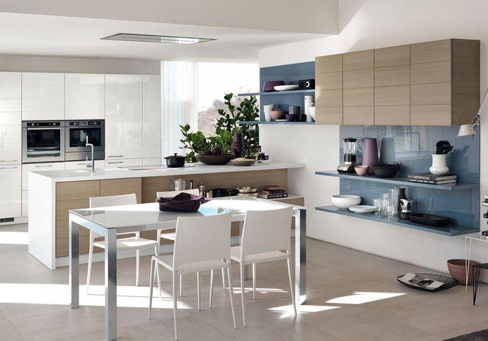 cuisine bleu nuit images about cuisines on pinterest plan. Black Bedroom Furniture Sets. Home Design Ideas