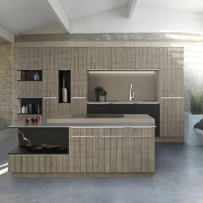 tendance une cuisine bois et laque elle d coration. Black Bedroom Furniture Sets. Home Design Ideas