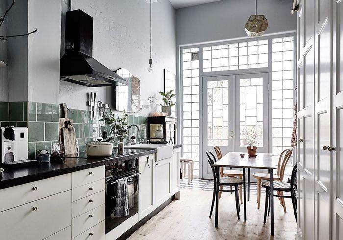 nos id es pour am nager une belle cuisine vintage elle. Black Bedroom Furniture Sets. Home Design Ideas