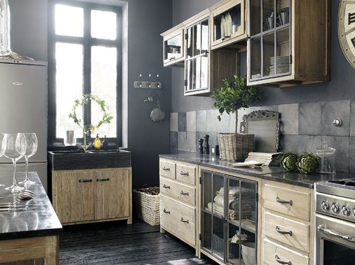 cuisines comme la campagne elle d coration. Black Bedroom Furniture Sets. Home Design Ideas