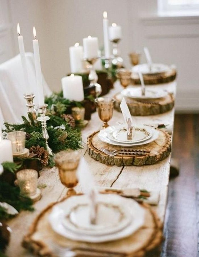 10 inspirations d co pour une table de r veillon sur son - Deco tables de noel ...