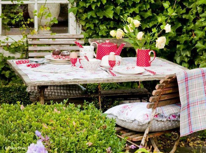 Deco de table ete cottage