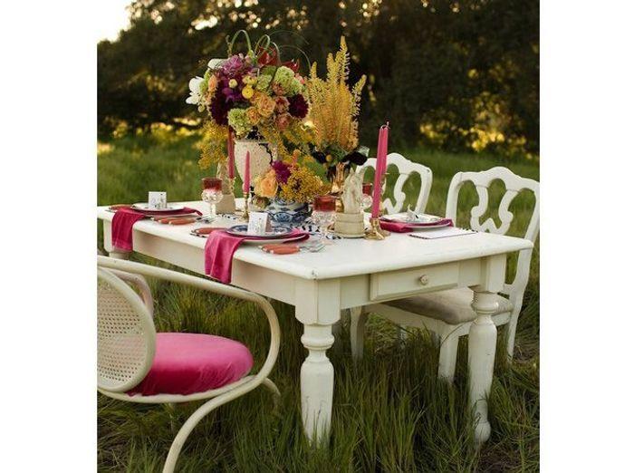 Deco de table ete romantique