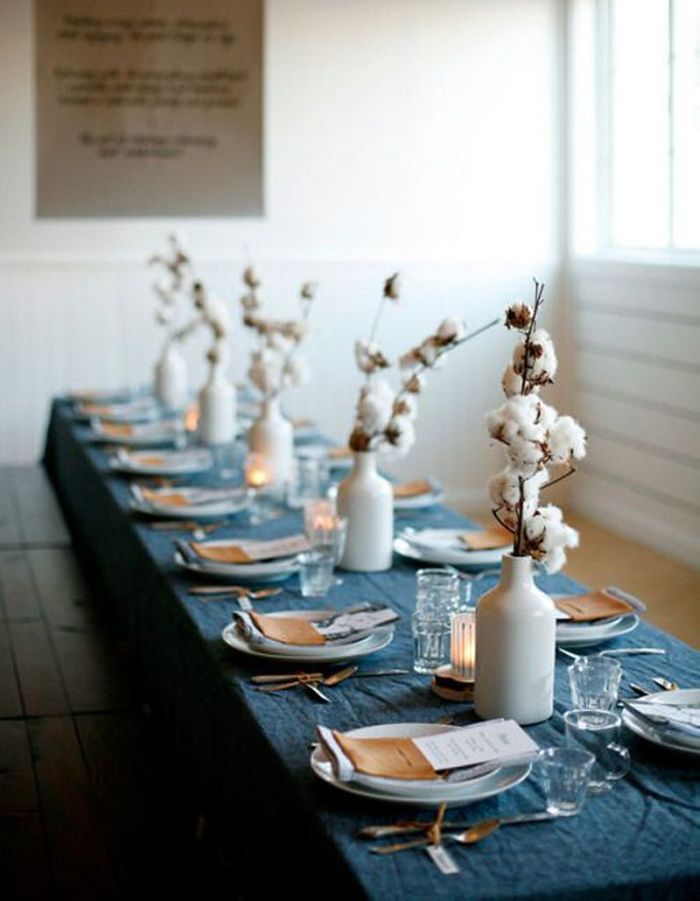 Décoration de table hiver : jouez la délicatesse avec le coton