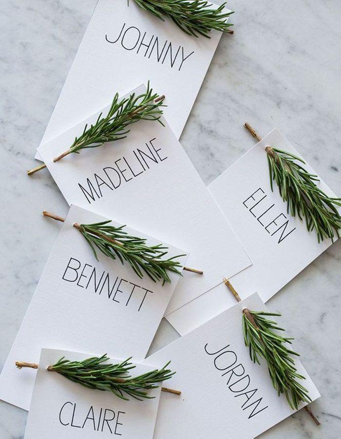 Décoration de table hiver : réalisez des marque-places originaux