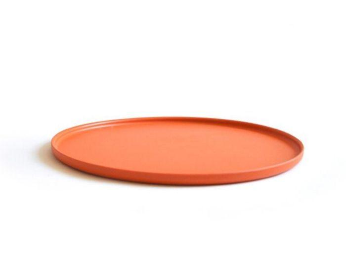 assiette orange mandarine