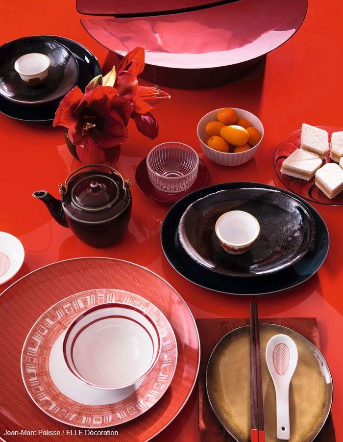 Table de fête comme en Chine : flamboyante et théâtrale