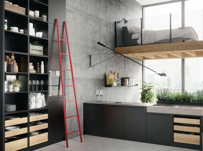 Des placards de cuisine pratiques sans porte