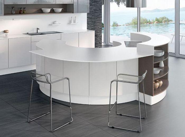 amnagement cuisine originale cuisine avec lot central une cuisine au papier peint original. Black Bedroom Furniture Sets. Home Design Ideas