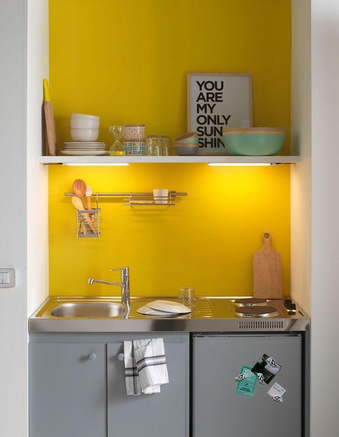 15 id es pour am nager une petite cuisine elle d coration - Plan de travail cuisine grande longueur ...