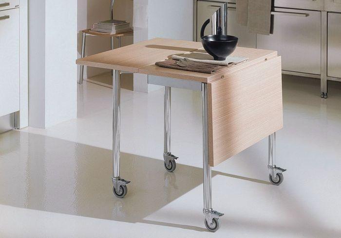 Toutes nos astuces d co pour am nager une petite cuisine - Table de cuisine pliante ...