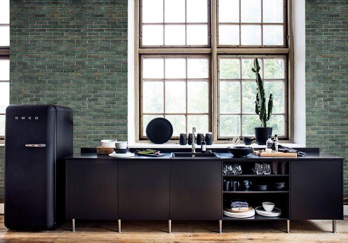 Une cuisine design noir mat