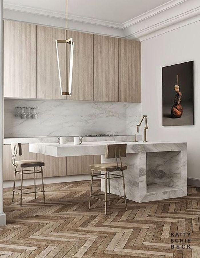 Une cuisine en bois chic et élégante