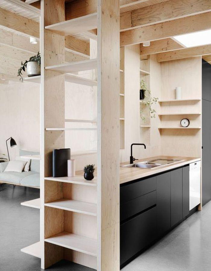 Une cuisine en bois d'architecte
