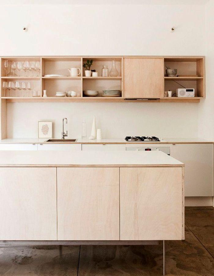 Une cuisine en bois minimaliste