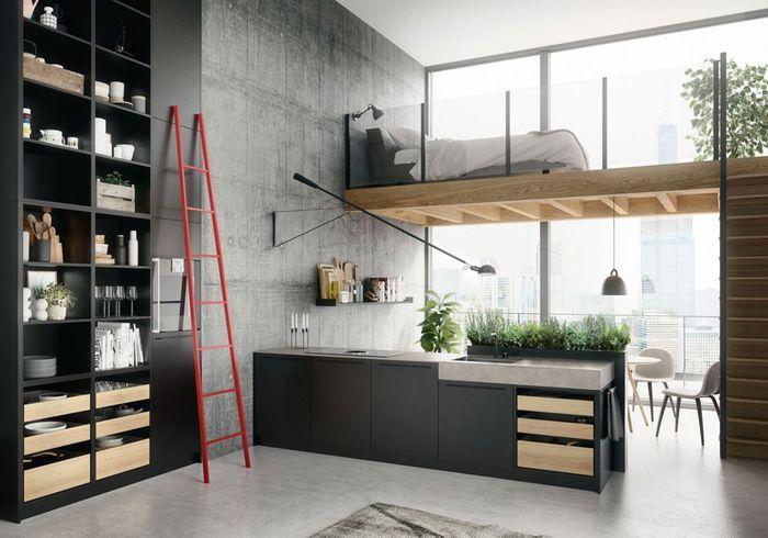 Une cuisine ouverte qui joue sur les volumes