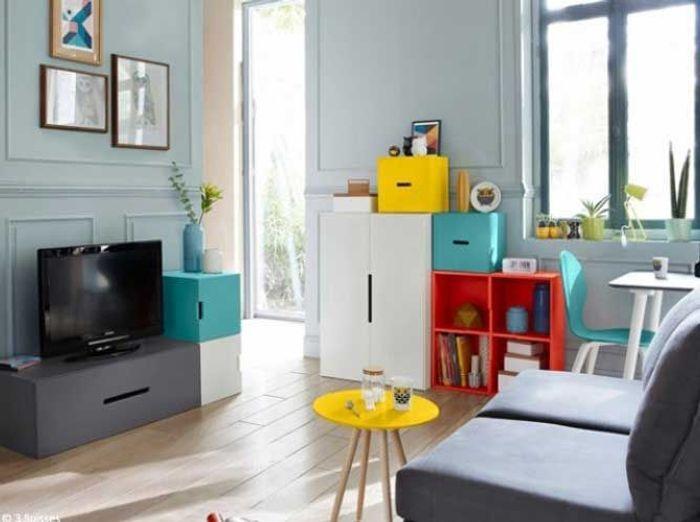 d couvrez ce petit appartement bien organis elle d coration. Black Bedroom Furniture Sets. Home Design Ideas