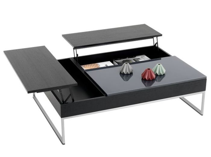 table basse relevable avec rangement valdiz. Black Bedroom Furniture Sets. Home Design Ideas