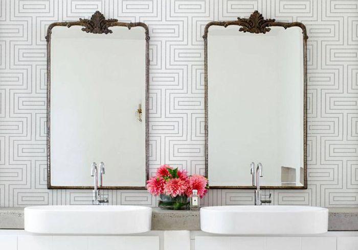 Mélangez les styles dans la salle de bains