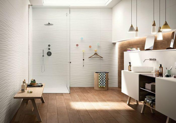 Une salle de bains design dans l'air du temps