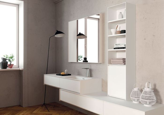 Une salle de bains design et féminine