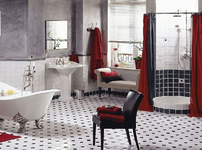 salle de bains r tro mettez vous dans le bain elle d coration. Black Bedroom Furniture Sets. Home Design Ideas