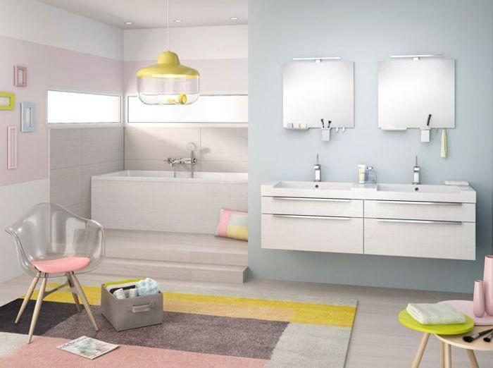 5 jolies salles de bains dans tous les styles elle for Video dans la salle de bain