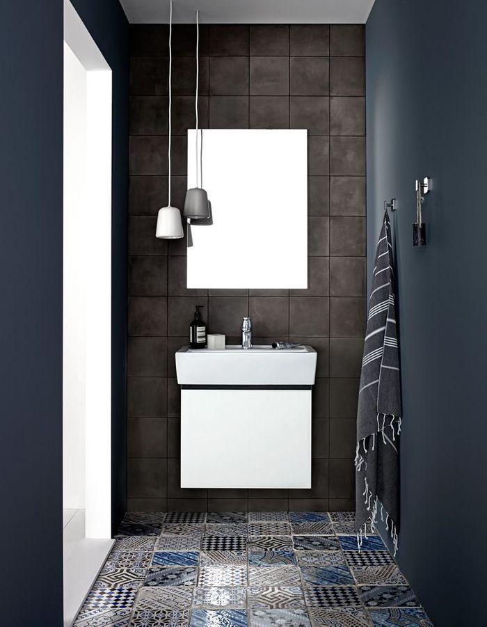 Salle de bains bleue Kvik