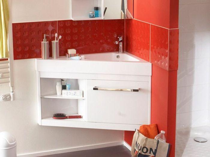 40 meubles pour une petite salle de bains - elle décoration - Placard D Angle Salle De Bain