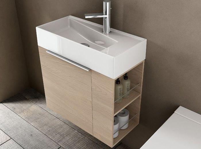 40 meubles pour une petite salle de bains elle d coration for Lavabo petit espace