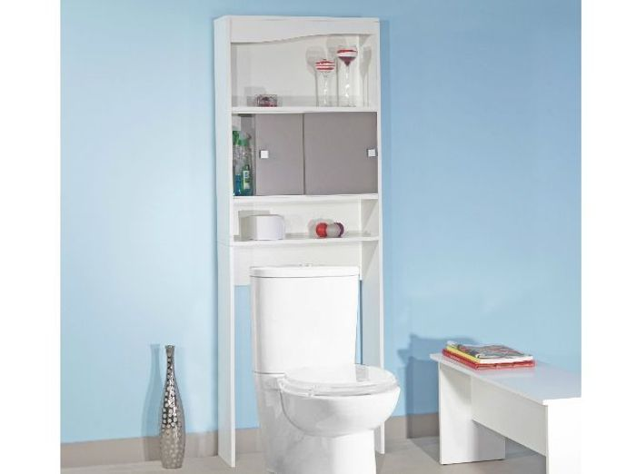 Cheap le meuble spcial wc with meuble de wc conforama for Meuble wc conforama